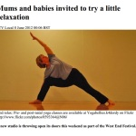 Mums and babies invited to try a little relaxation - 8th June 2012